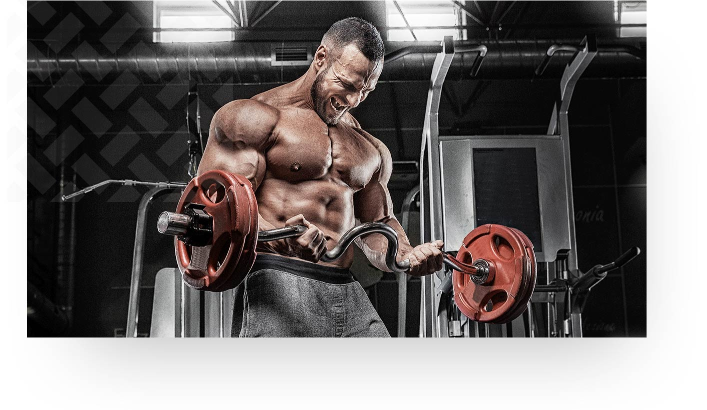 Toned Man Lifting Heavy Weights