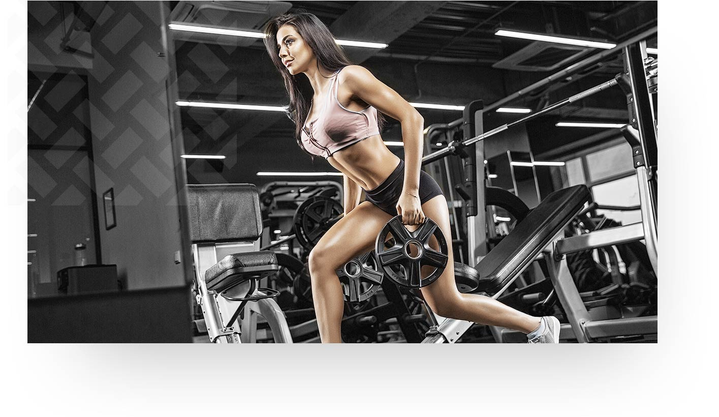 Brunette Woman Working Out