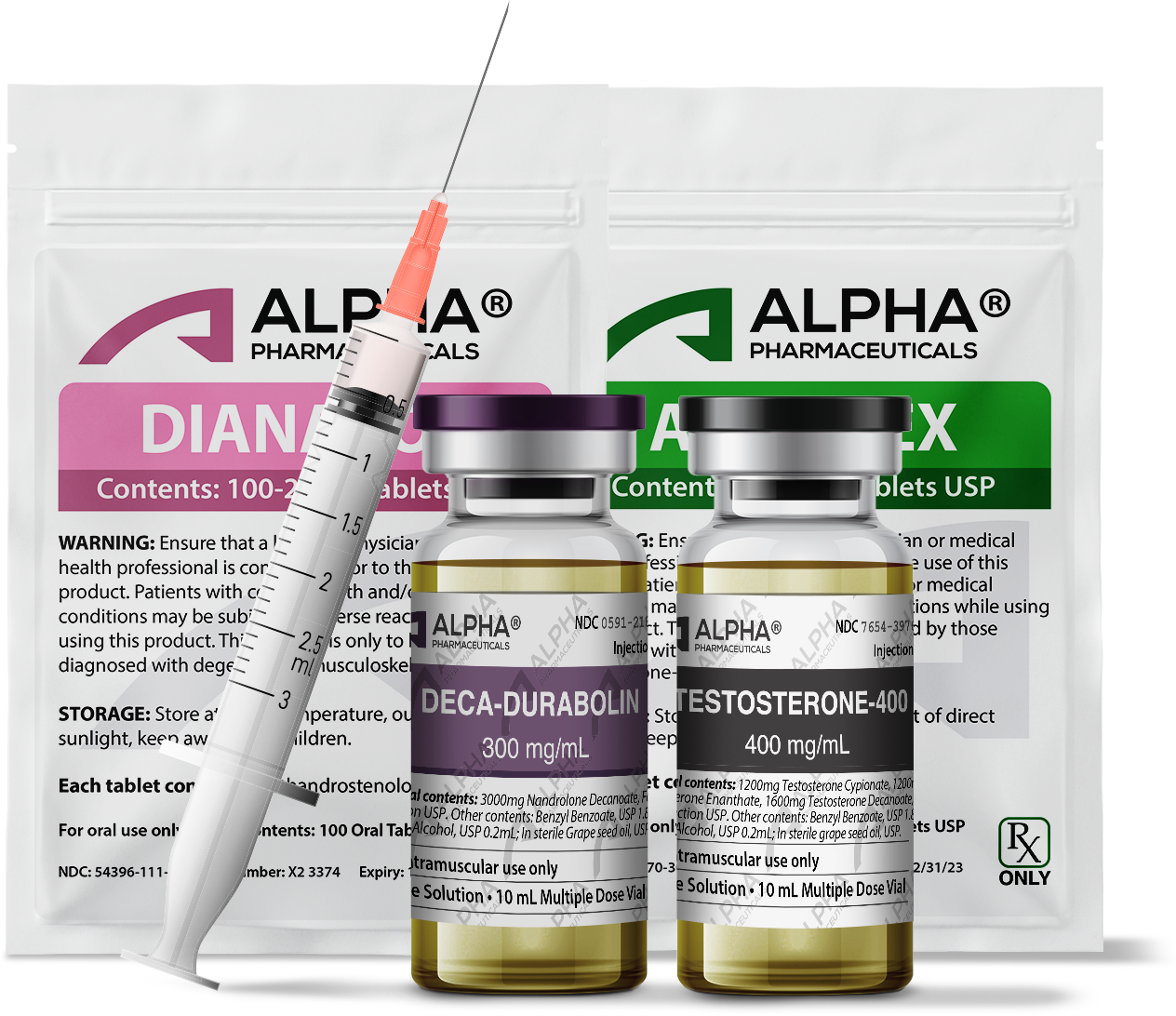 Alpha PC Injectables With Syringe