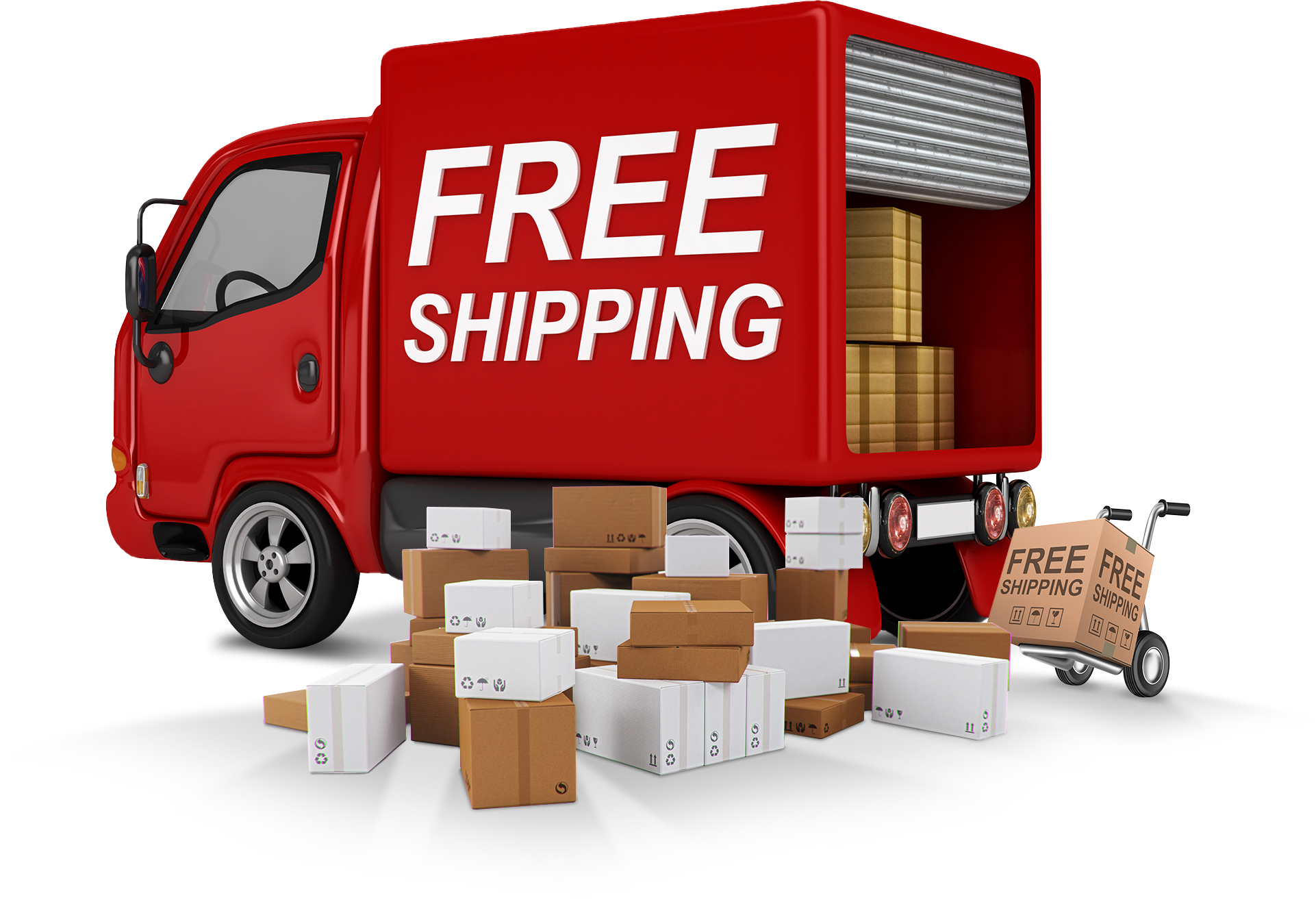 Alpha PC Red Free Shipping Truck