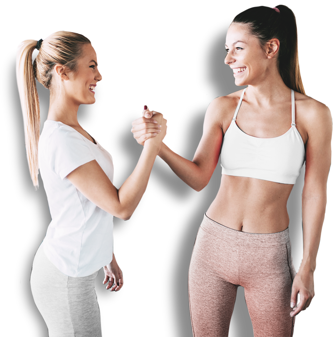 Two Girl Friends Shaking Hands
