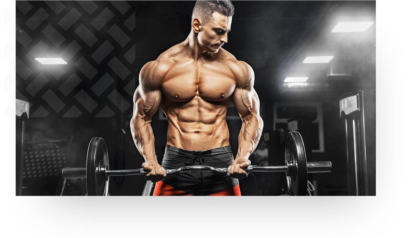 Toned Muscular Man Lifting